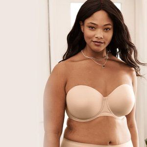Wacoal Tan Red Carpet Strapless Support Wire Bra